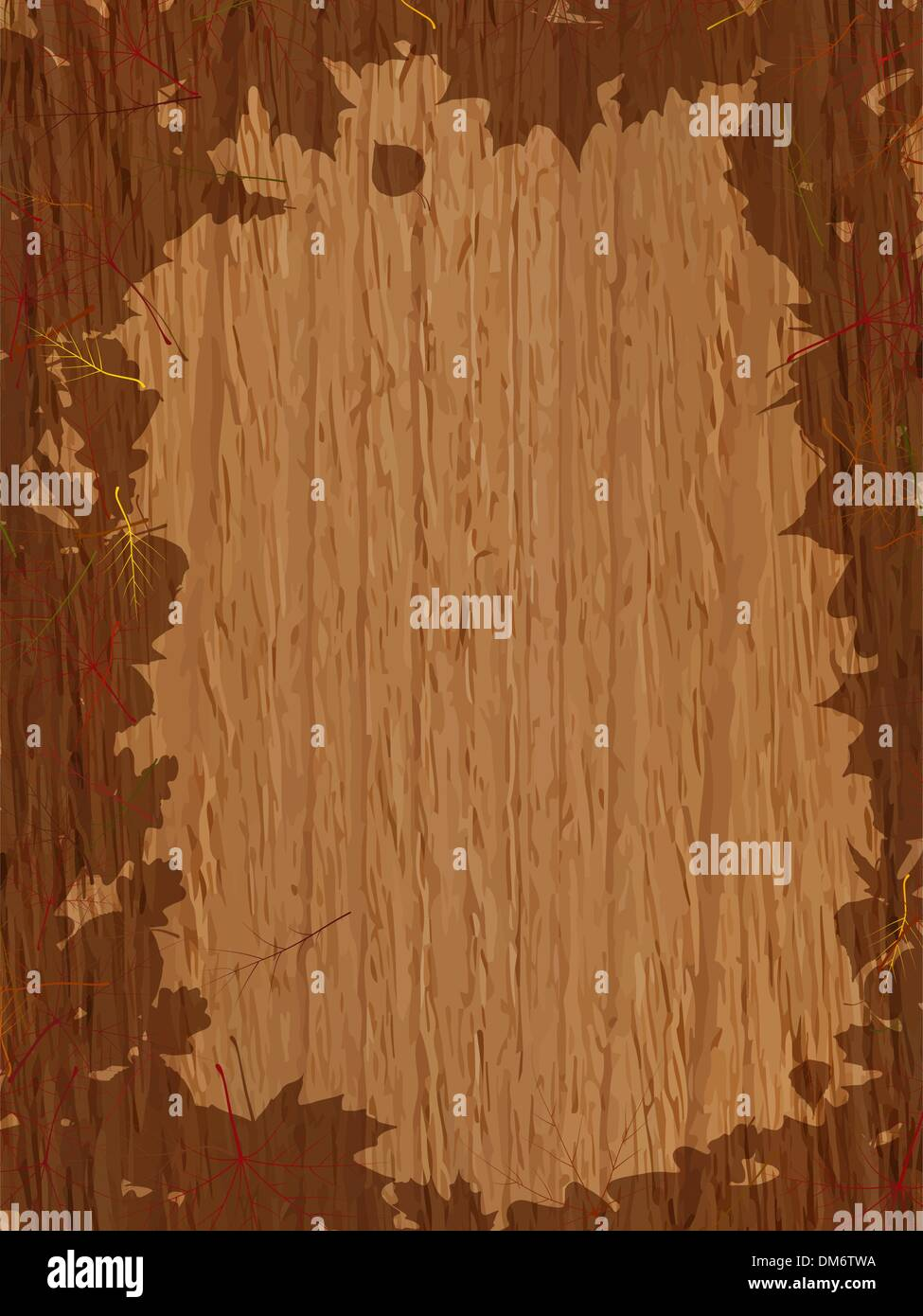 Autumn background with Pumpkin on wooden board. - Stock Image
