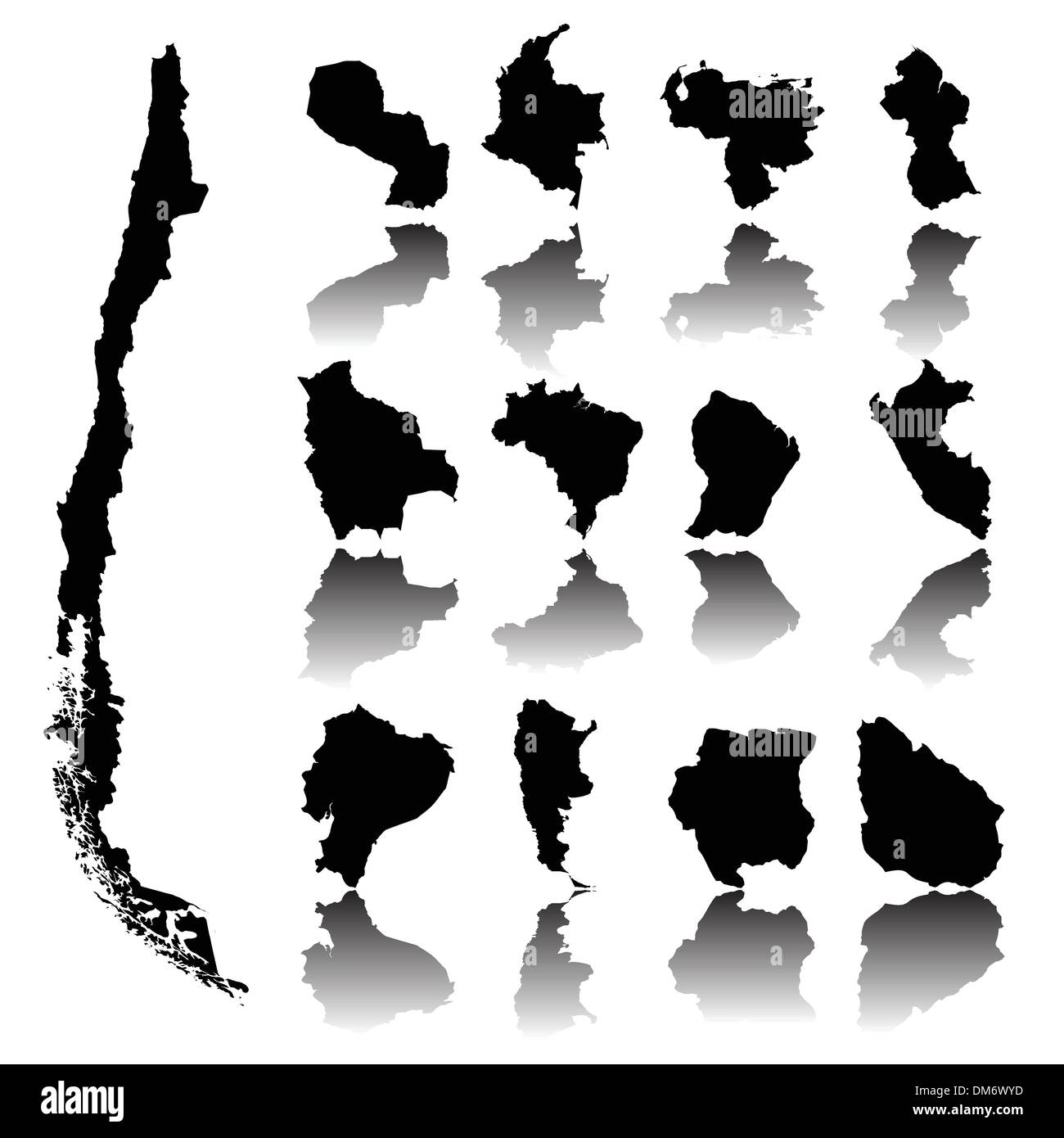 Maps of South America - Stock Image