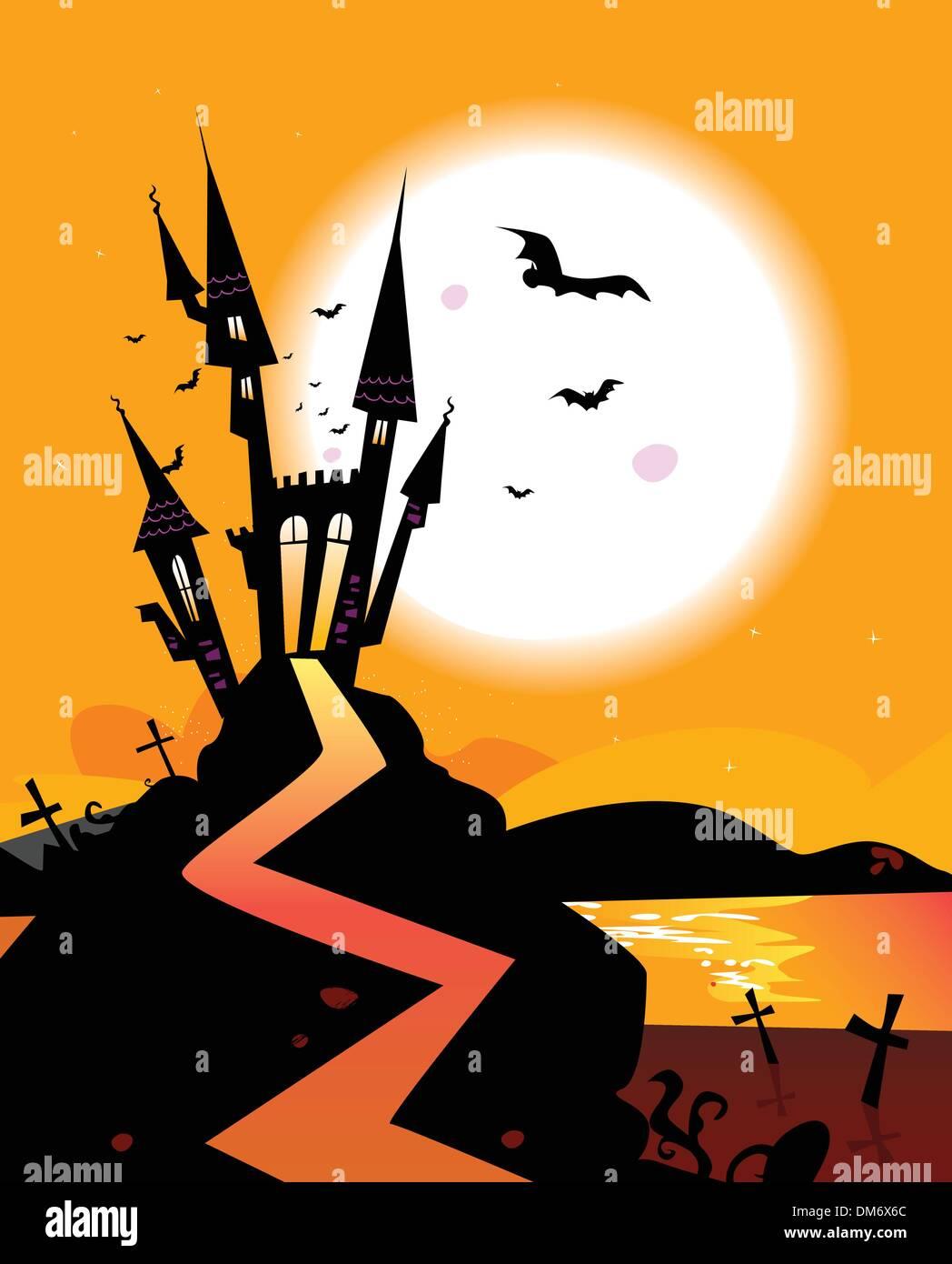 Haunted Castle - Stock Image