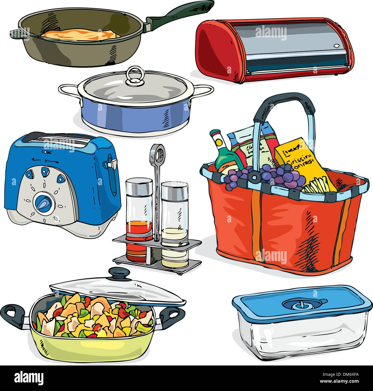 kitchen things vector Stock Vector