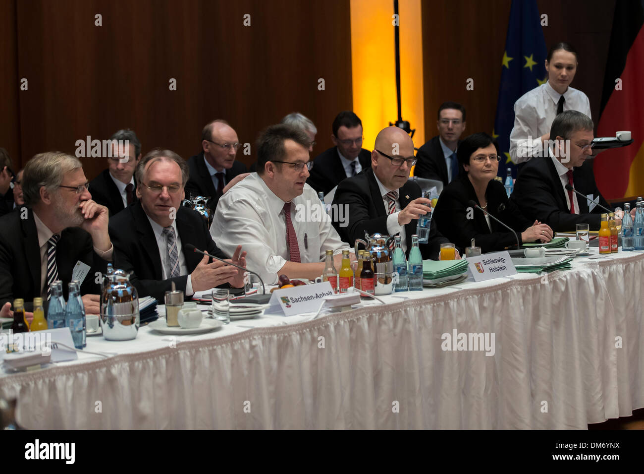 Berlin, Germany. December 12th, 2013. Meeting/Conference of the heads of government of the Germany Federal states Stock Photo