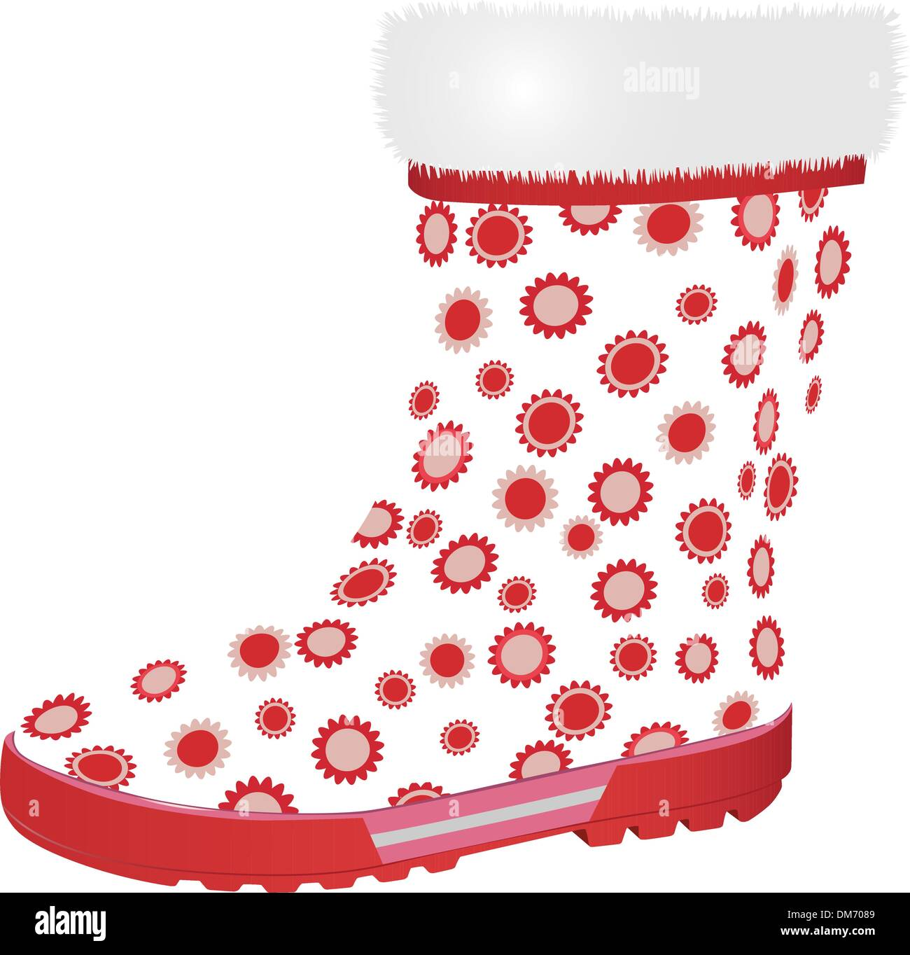 pink rubber boot Stock Vector