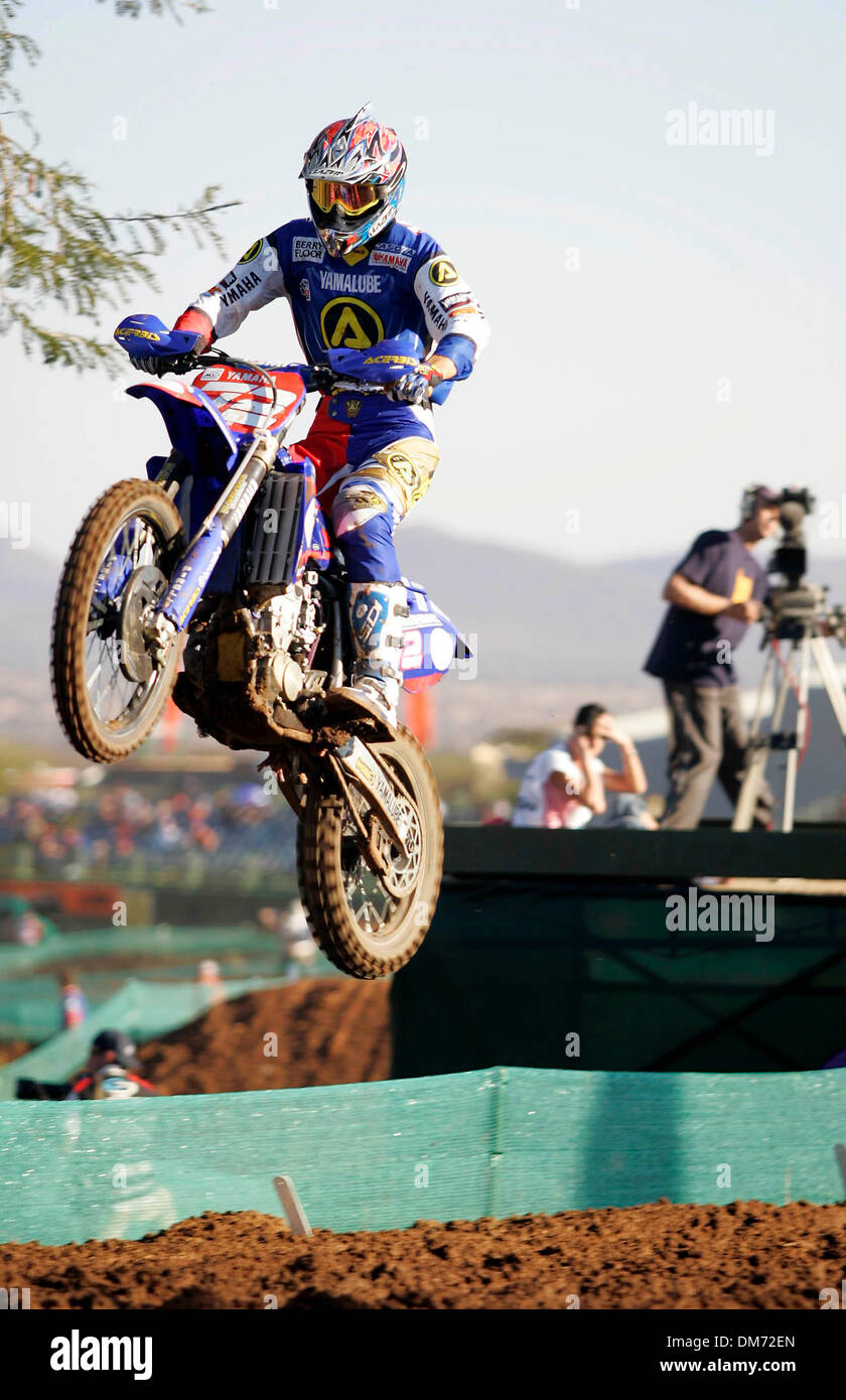 Jul 16, 2005; Sun City, North West, South Africa; FIM World Championship Motocross, Grand Prix of South Africa Ð July 16-17. Sun City, South Africa. Multiple world motocross champion Stefan Everts  (Belgium) topped the MX1 time sheets in the final qualifying session at Sun City today. Everts, with five victories already to his credit this year, is in pole position for tomorrowÕs wo - Stock Image