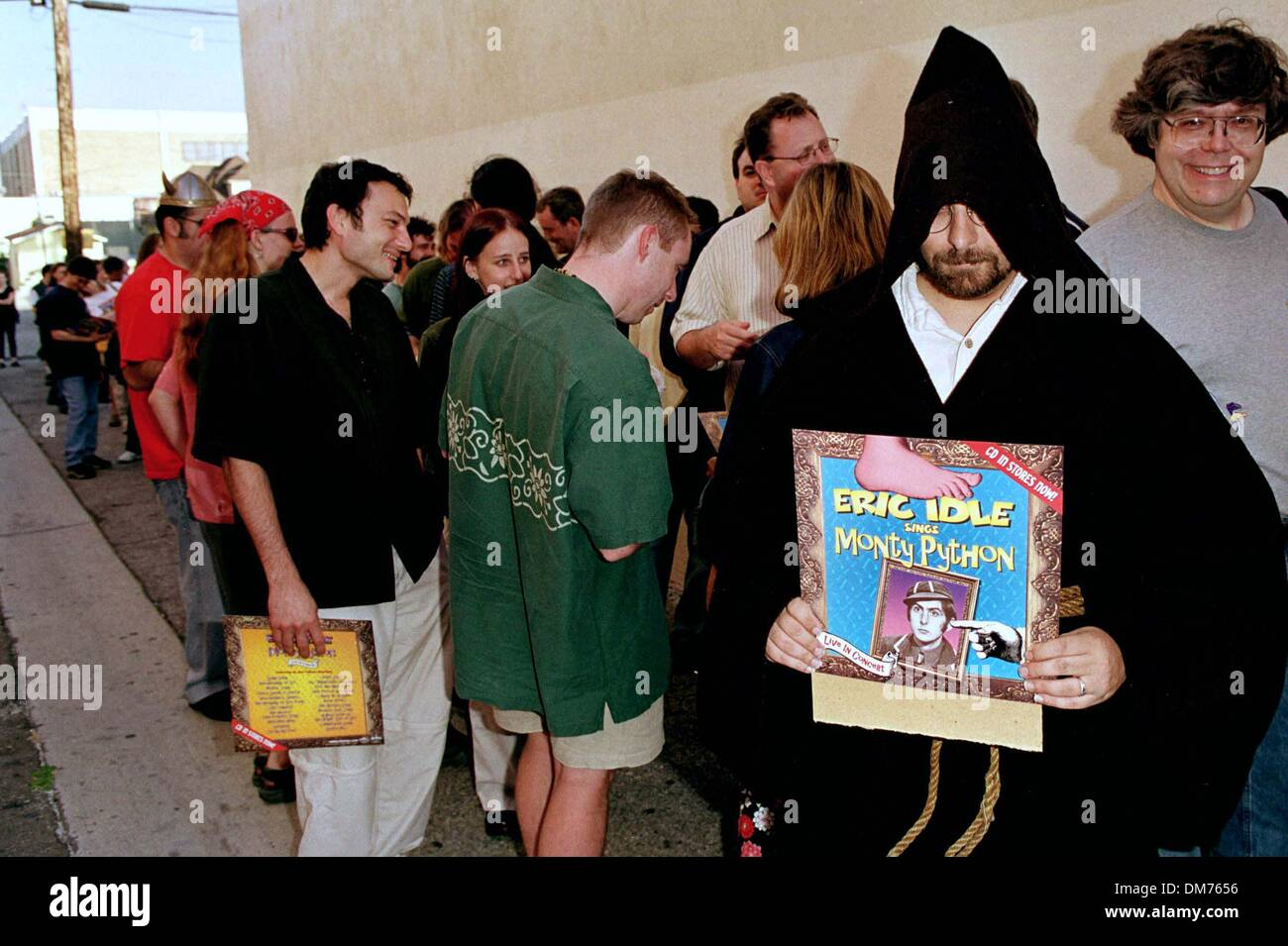 ''Monty Python and the Holy Grail'' Re- Release film premiere.A contest for fans who came dressed as their favorite characters from the film. They were judged by Eric Idle and John Cleese. - Stock Image