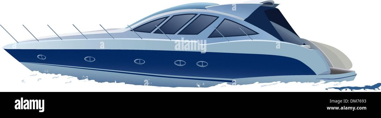 luxury boat - Stock Image
