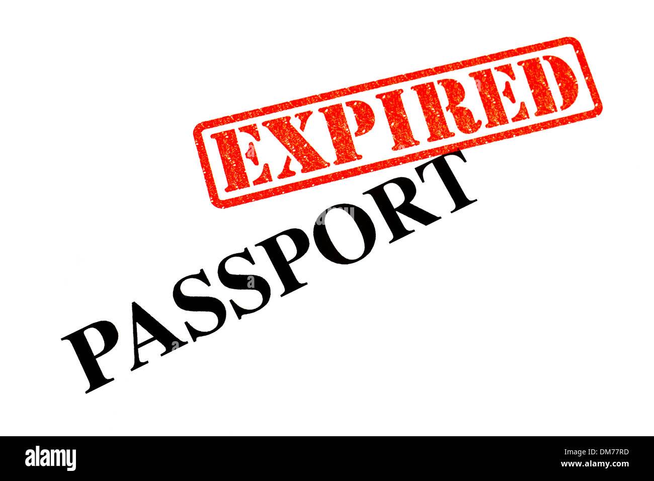 Passport has EXPIRED. Stock Photo