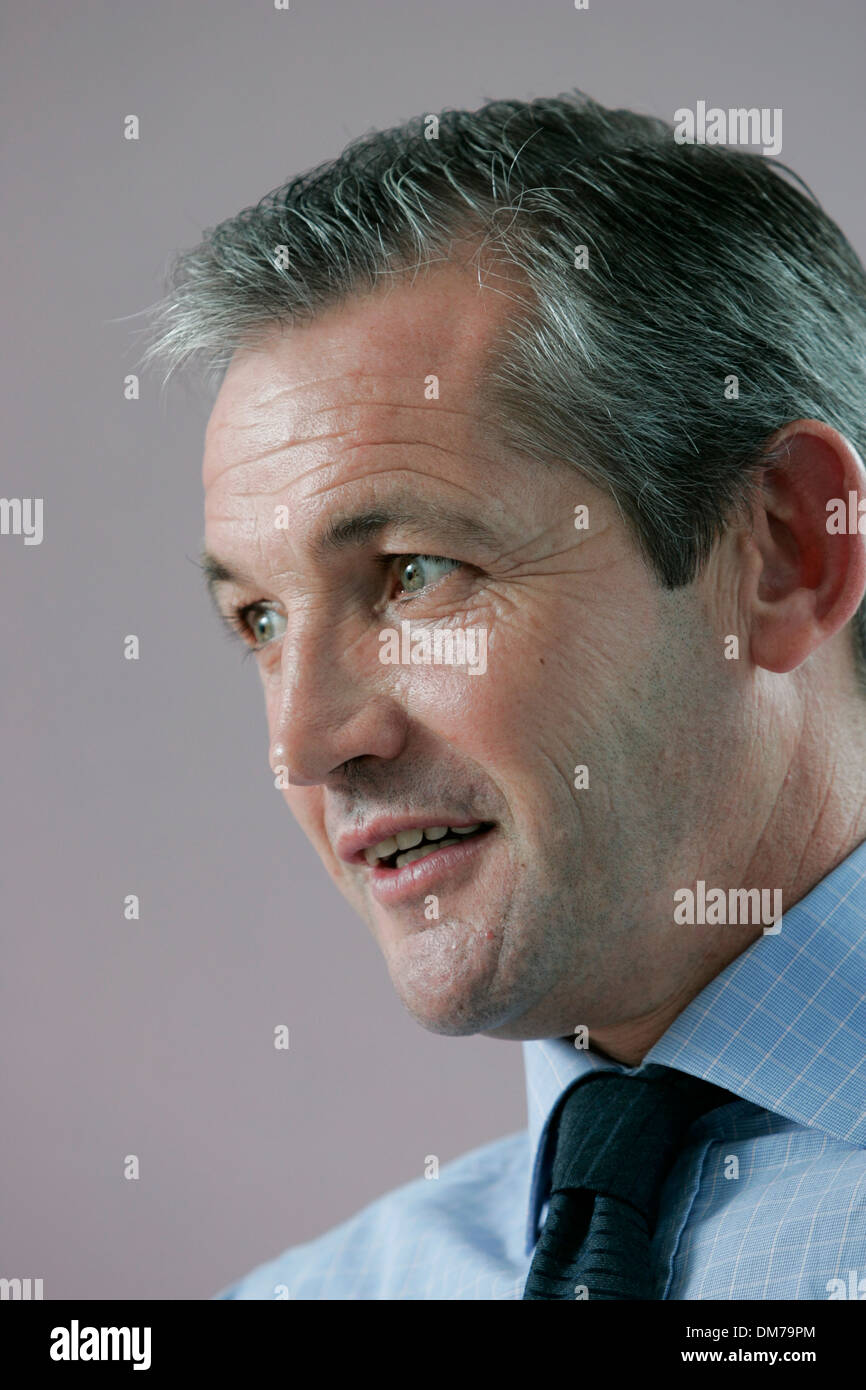 George Burley, former Scotland football player and national team manager - Stock Image