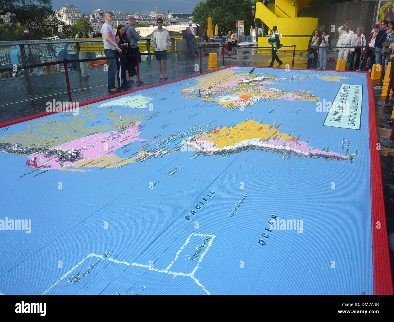 Atmosphere From 23rd July until 13th August visitors to Southbank Centre London will have opportunity to build 'Our World in - Stock Image