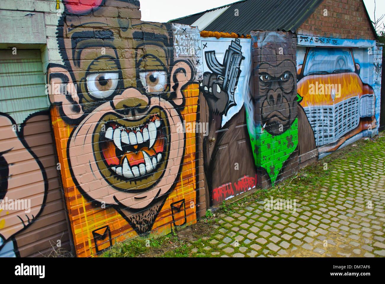 Pendz street art graffiti in northampton england uk