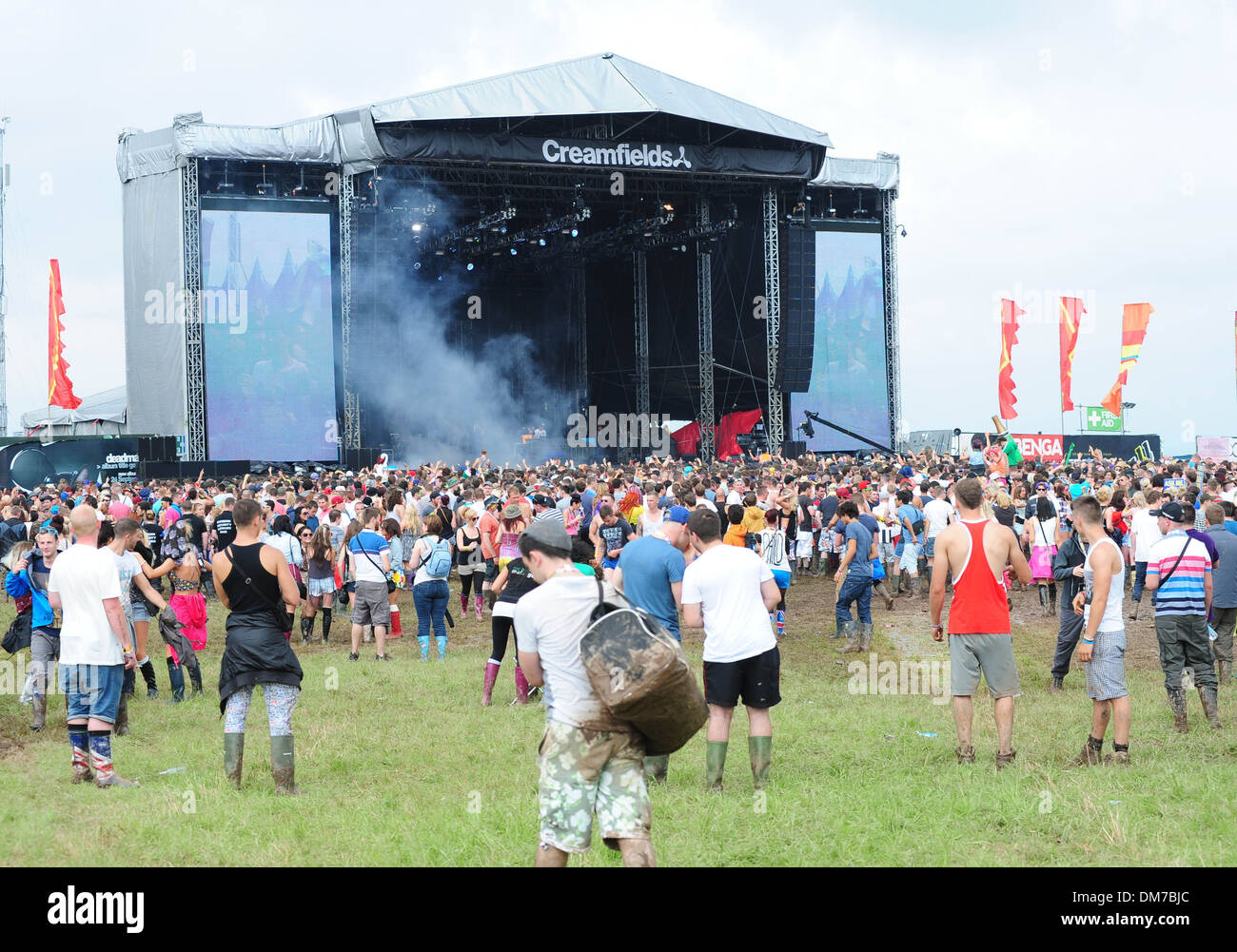 Creamfields organisers have reportedly stopped entry to festival site due to heavy rainfall over last day A statement has been - Stock Image