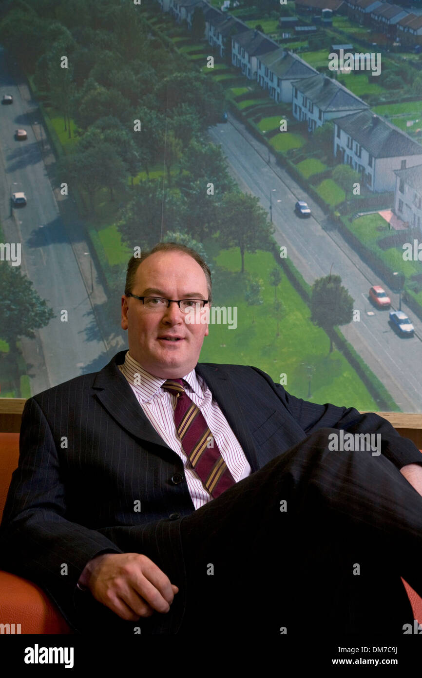 Martin Armstrong. Former Chief Executive of Glasgow Housing Association now Chief Executive of Wheatley Group. - Stock Image