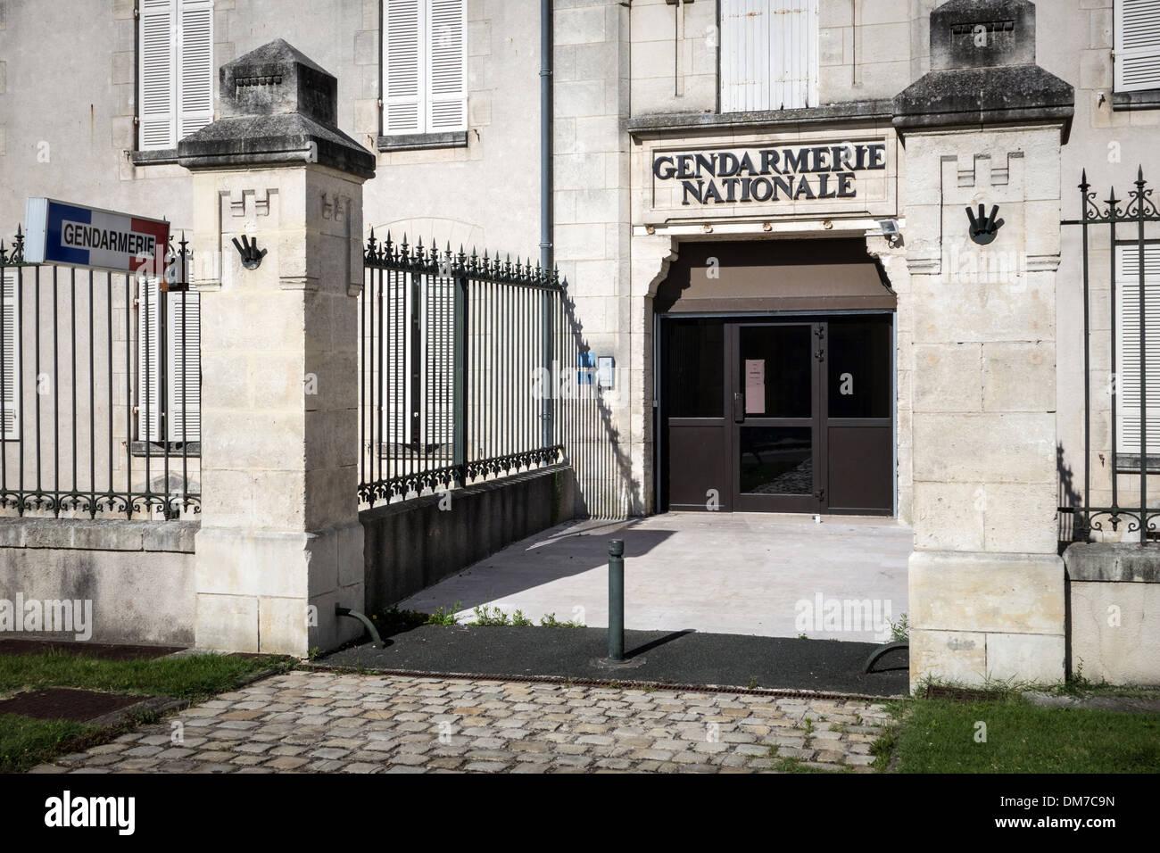 ENTRANCE TO THE NATIONAL GENDARMERIE, ROCHEFORT, CHARENTE-MARITIME (17), FRANCE - Stock Image
