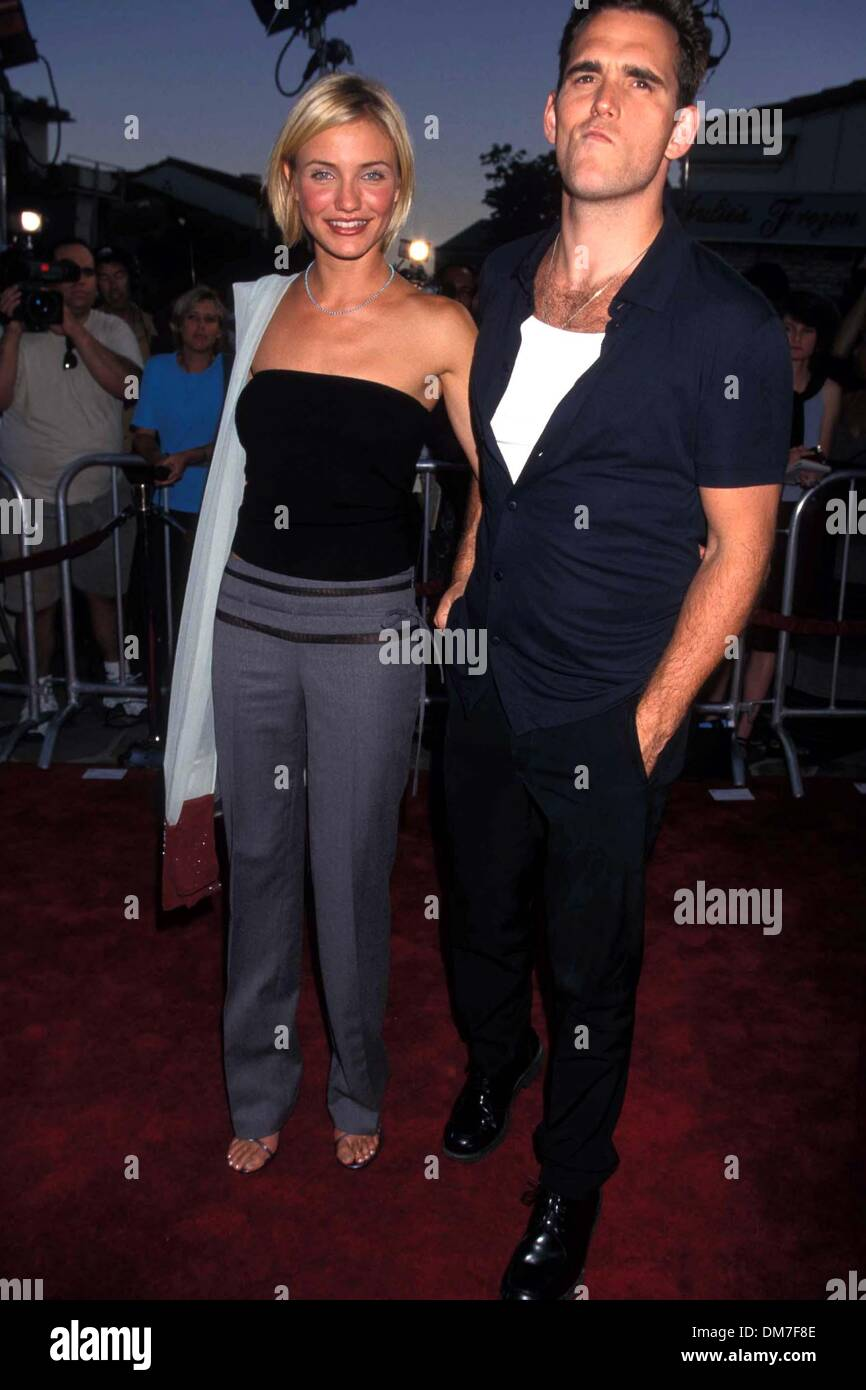 July 9, 1998 - K12803LR.THERE'S SOMETHING ABOUT MARY PREMIERE LOS ANGELES CA 07-09-1998.CAMERON DIAZ AND MATT DILLON. LISA ROSE-  PHOTOS(Credit Image: © Globe Photos/ZUMAPRESS.com) - Stock Image