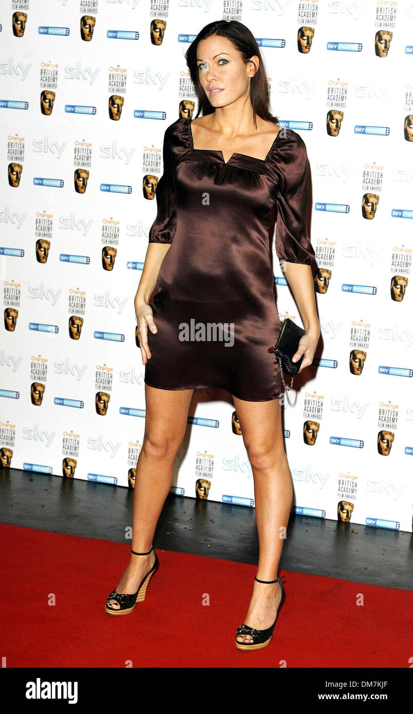 Jan. 1, 1970 - London, United Kingdom - K51762.001867.LINZI STOPPARD.Inaugural Bafta Nominees Reception-Arrivals-Natural History Museum, Knightsbridge, London, United Kingdom 02-10-2007. MARK CHILTON-(Credit Image: © Globe Photos/ZUMAPRESS.com) - Stock Image