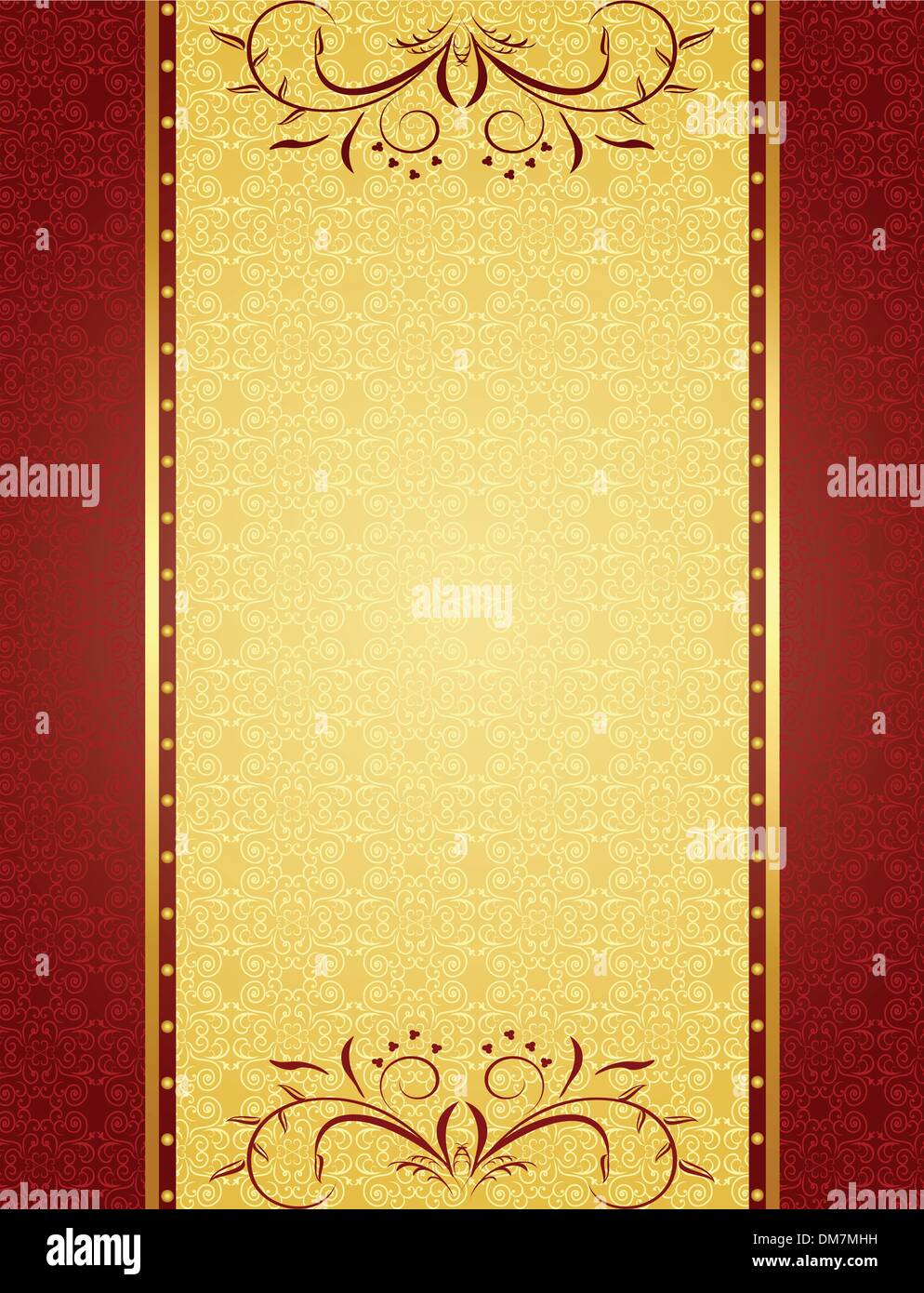 Gold Background For Design Of Cards And Invitation Stock