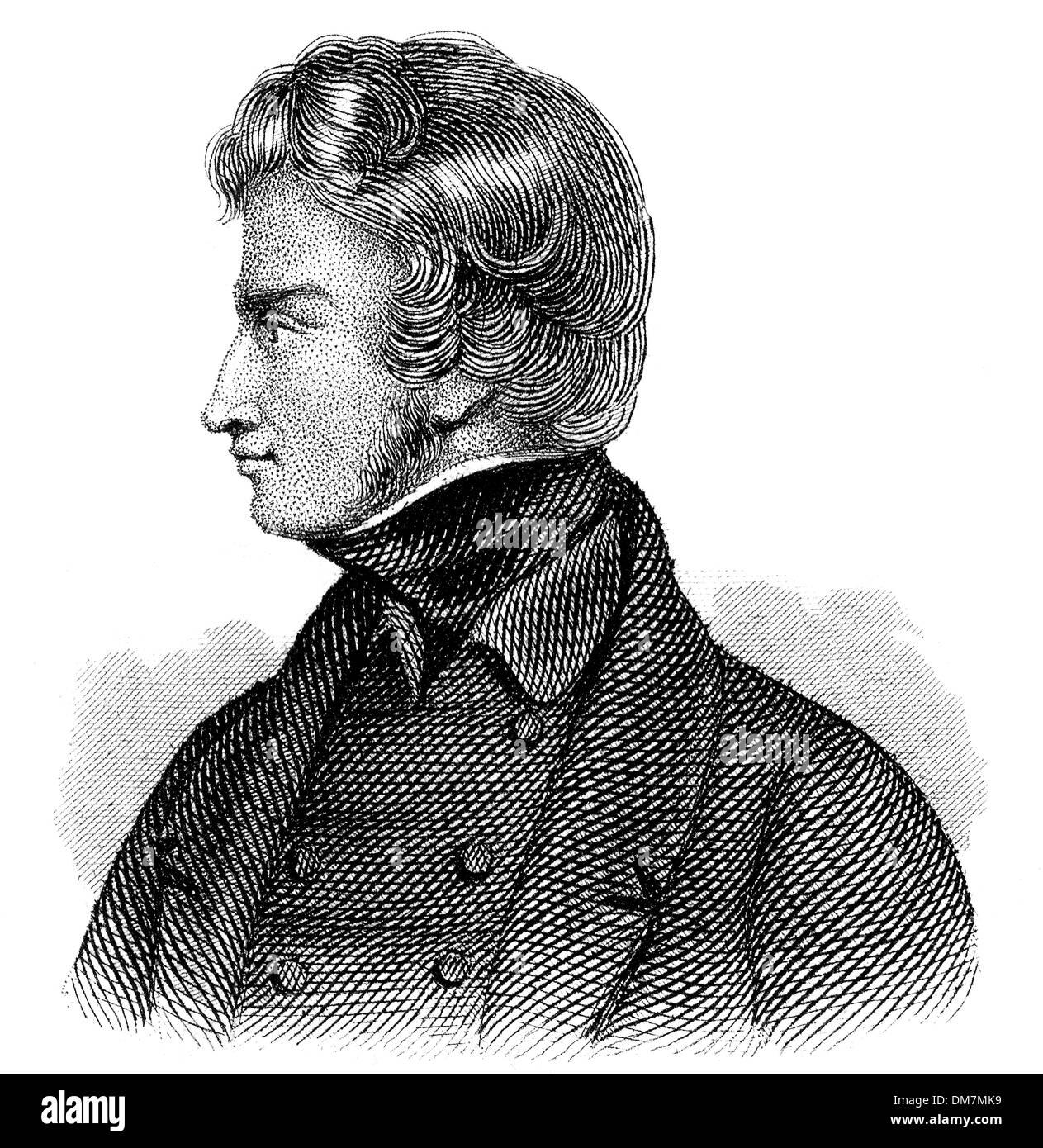 Adam Bernard Mickiewicz, 1798 - 1855, Polish national poet, publicist, translator, - Stock Image