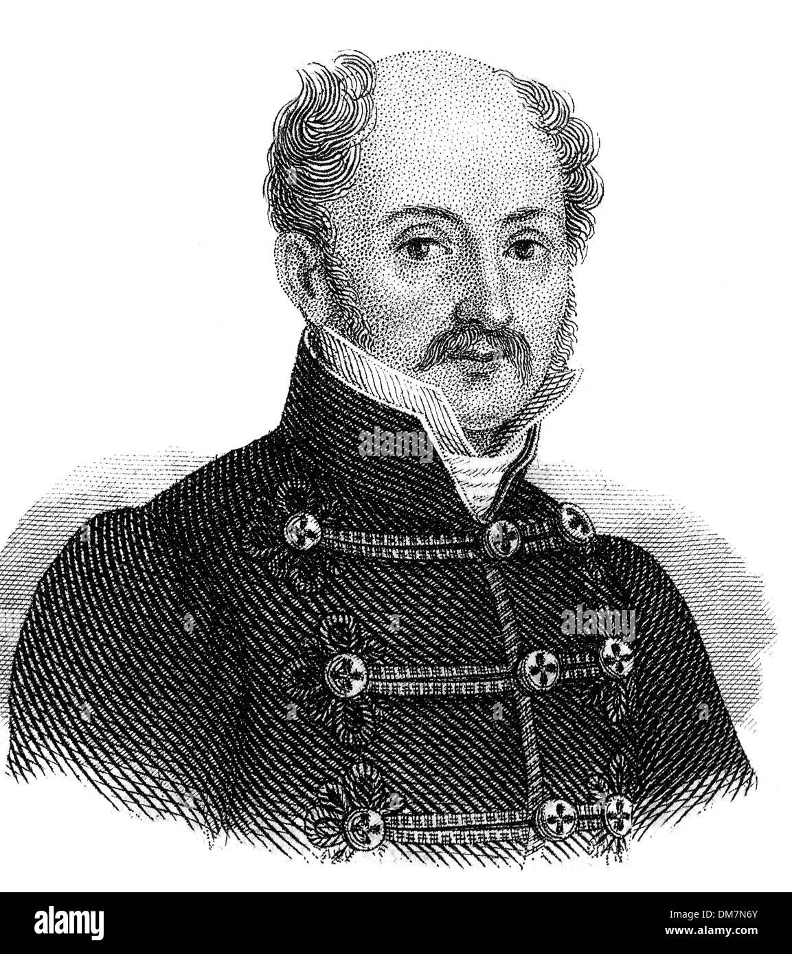 Sándor Kisfaludy, 1772 - 1844, Hungarian lyric poet, - Stock Image