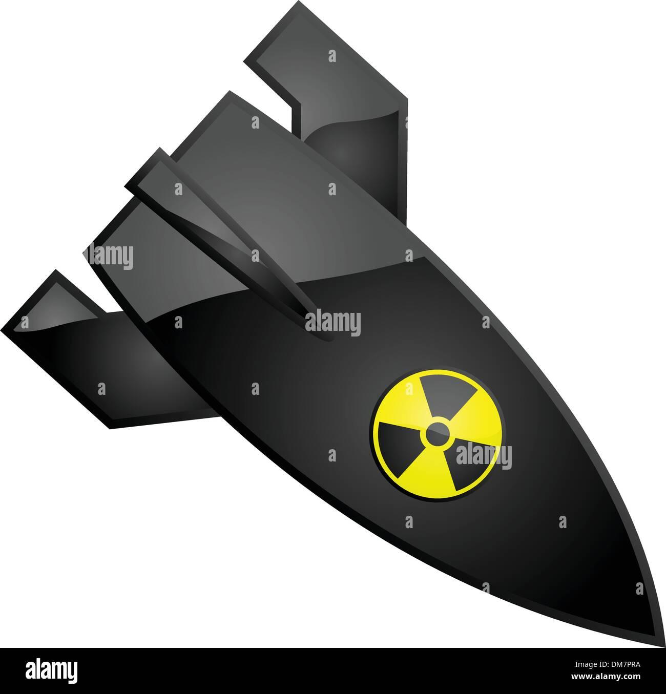 Nuclear bomb - Stock Vector
