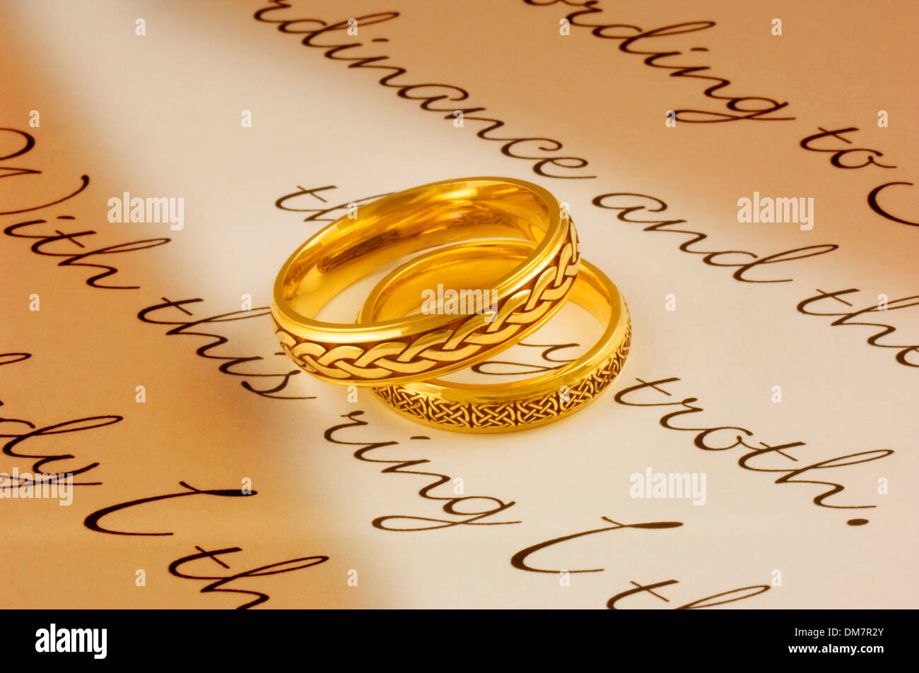 Wedding Rings - John Gollop Stock Photo