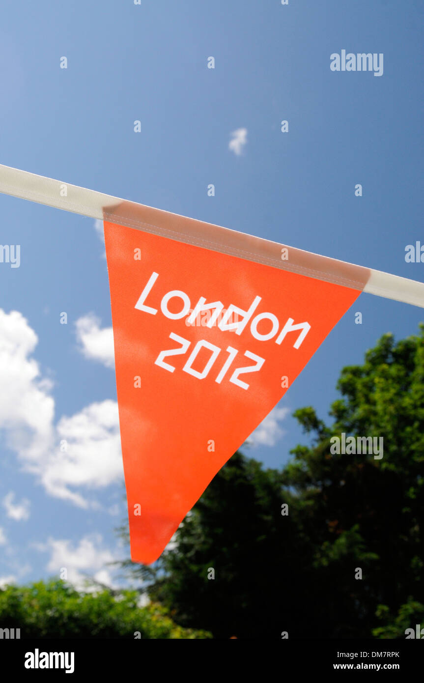 Bunting in a local town - Stock Image
