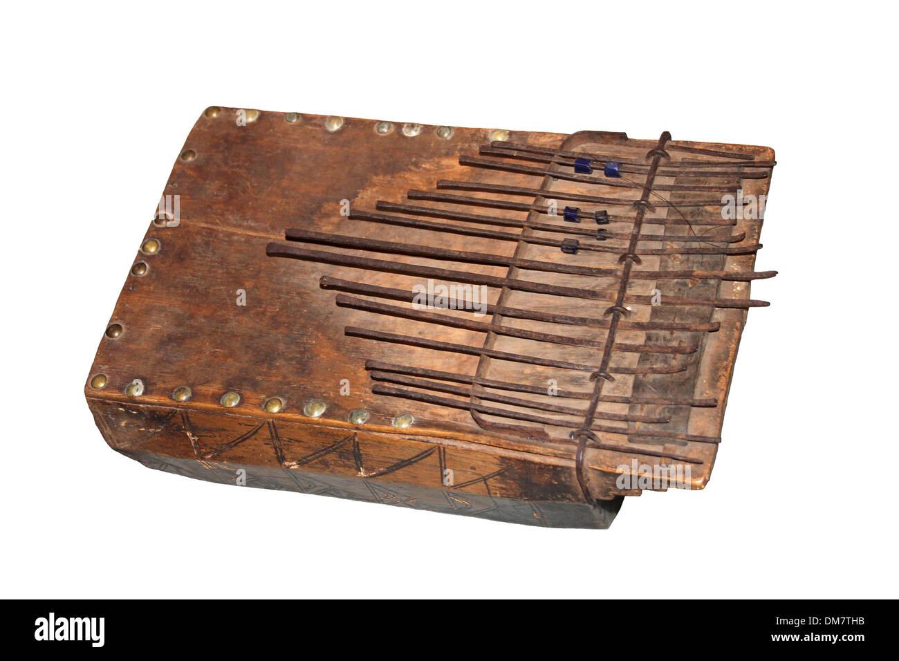 Zanze - a type of thumb piano, Maculla, Angola - Stock Image