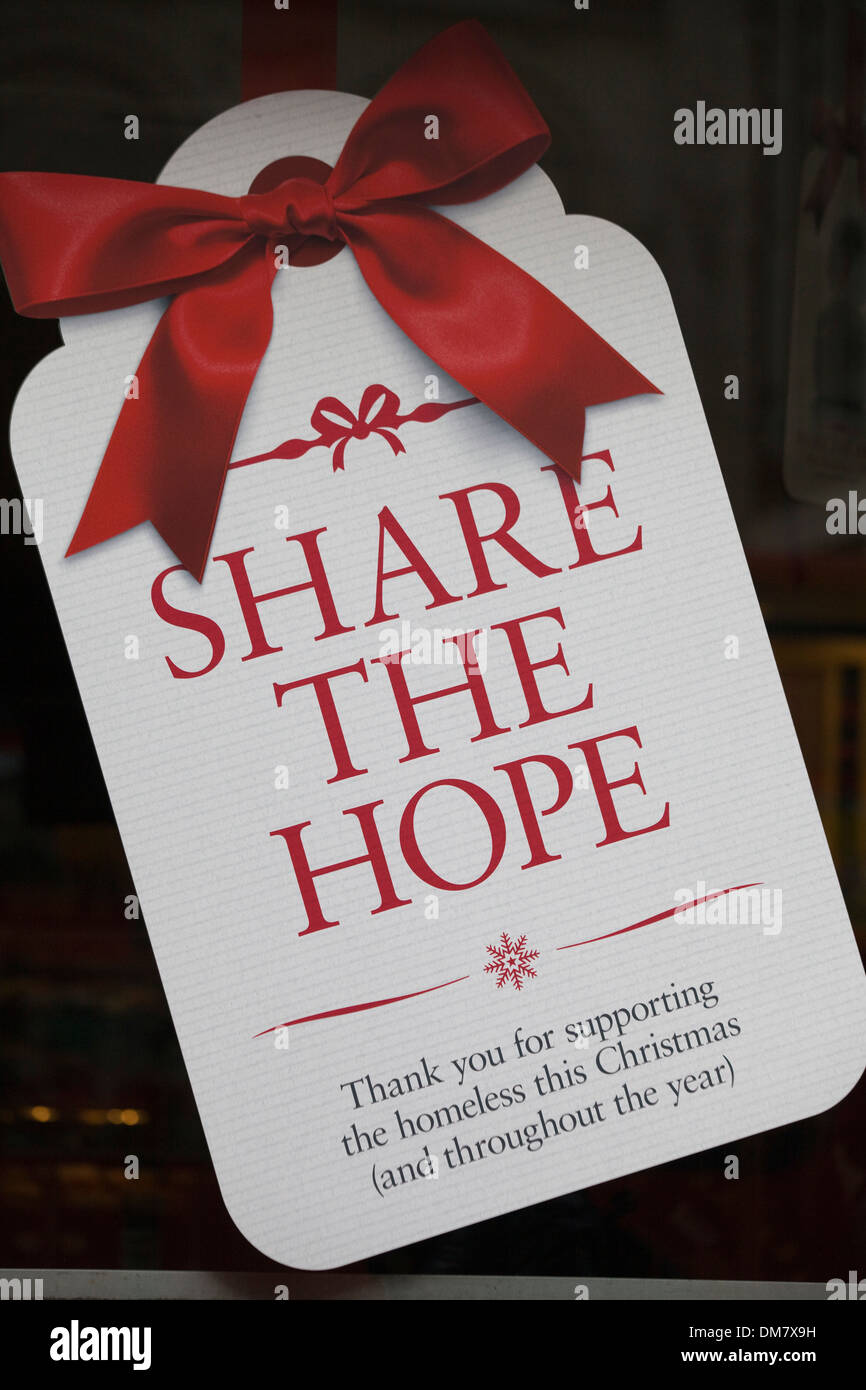 Christmas Helping Homeless.Share The Hope Thanking People For Helping The Homeless At