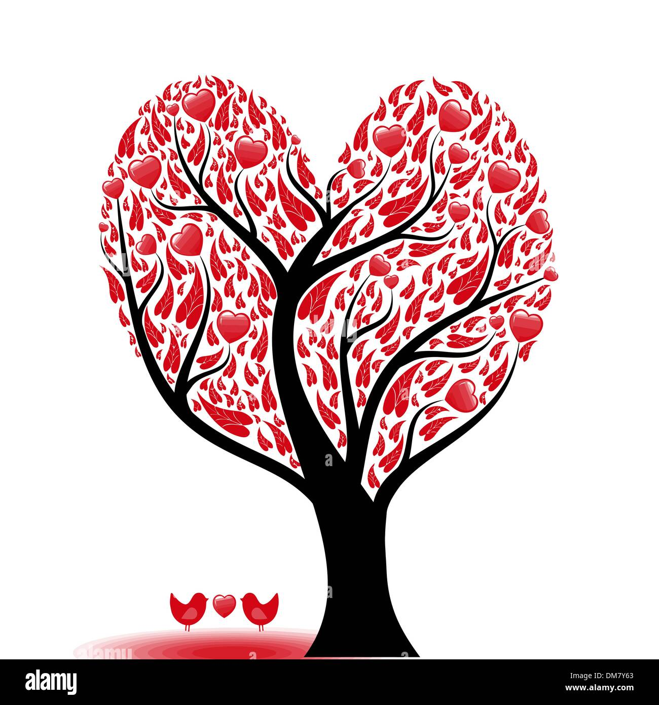 Love tree - Stock Image