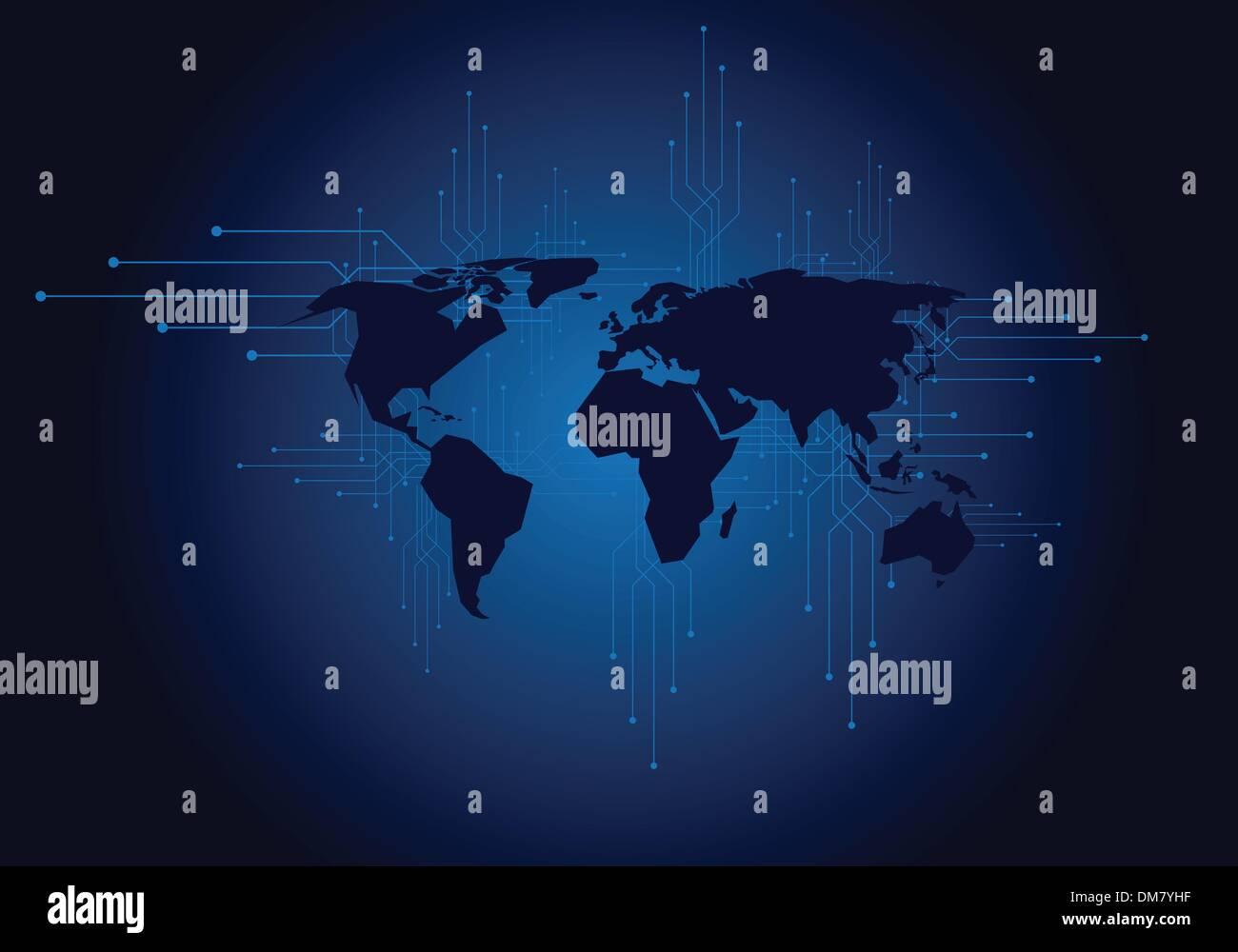 World map - Stock Image