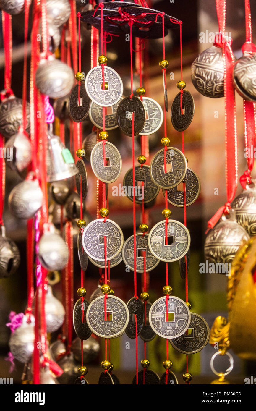 Lucky Chinese wind chime - Stock Image