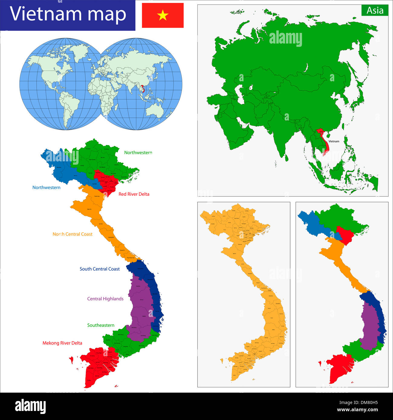 Vietnam Map Stock Photo 64100321 Alamy