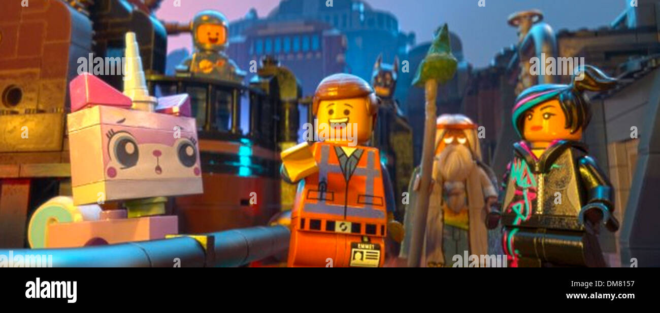 THE LEGO MOVIE 2014 Warner Bros film - Stock Image