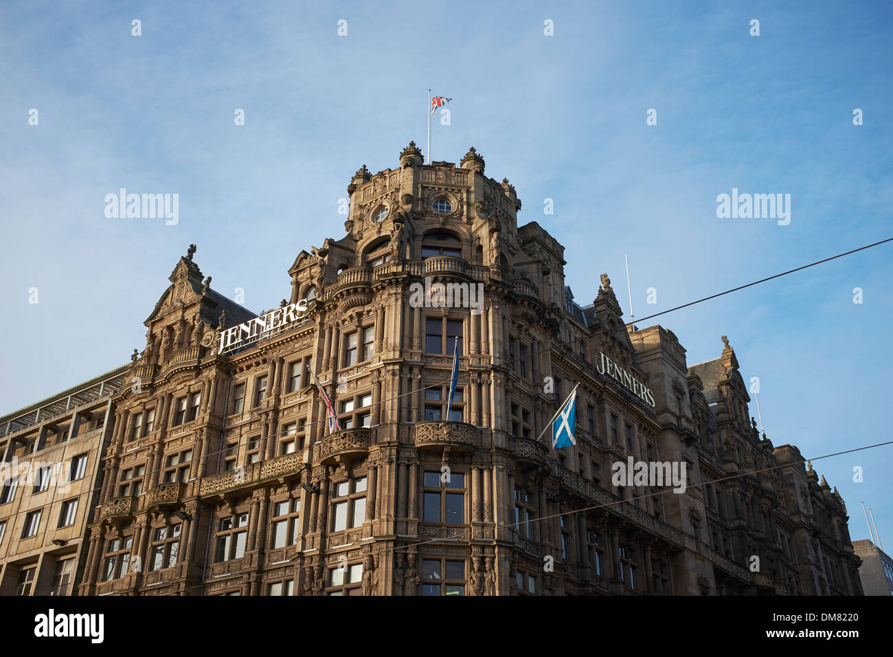 Exterior of the Jenners department store on Princes Street in Edinburgh city centre - Stock Image
