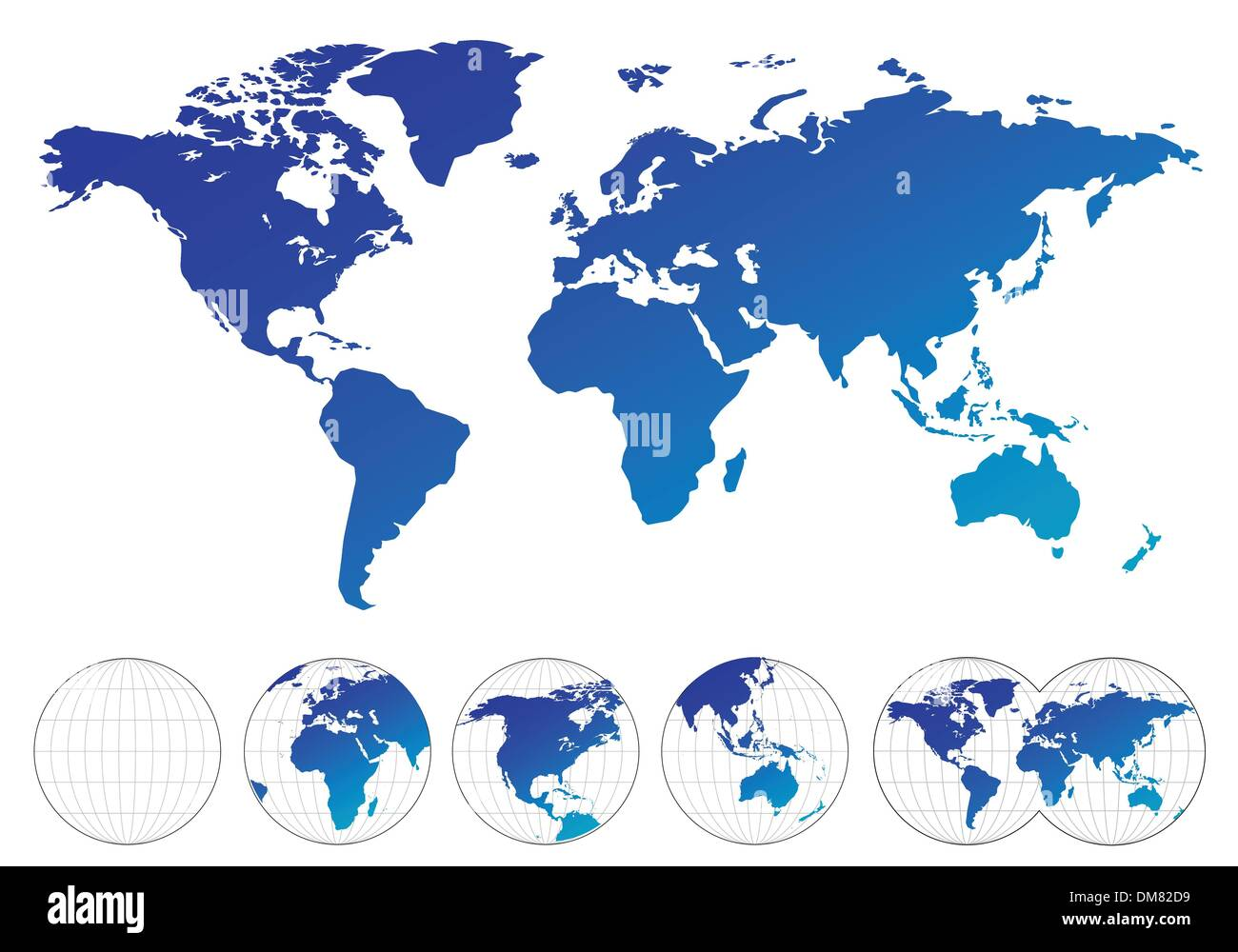 World map - Stock Image
