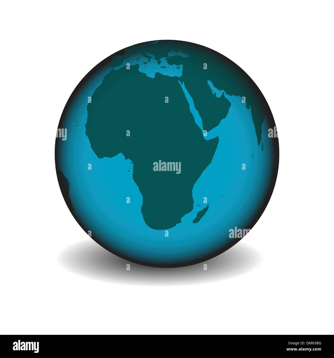 earth globe - Stock Image
