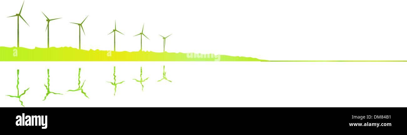 Green sunrise - Stock Vector