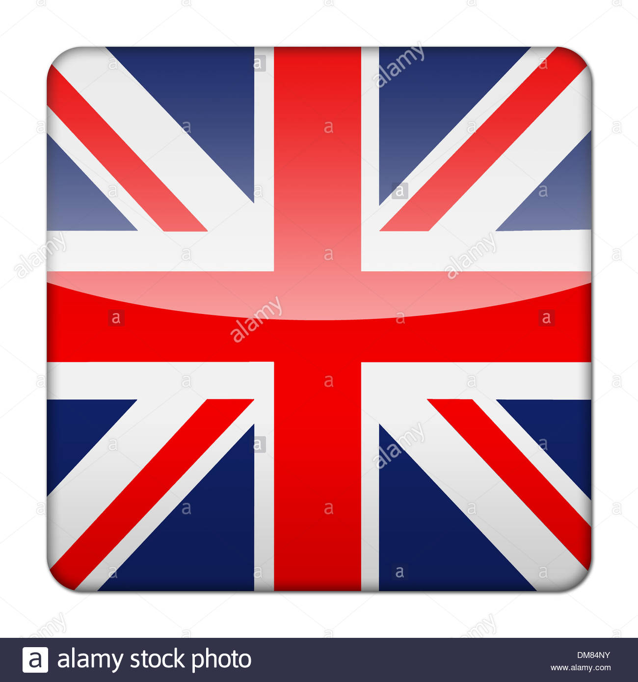 glossy logo icon app flag of great britain union jack