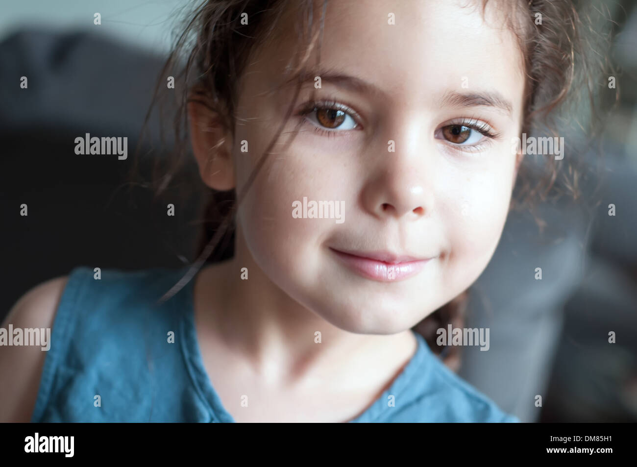 Child, six years old portrait Stock Photo