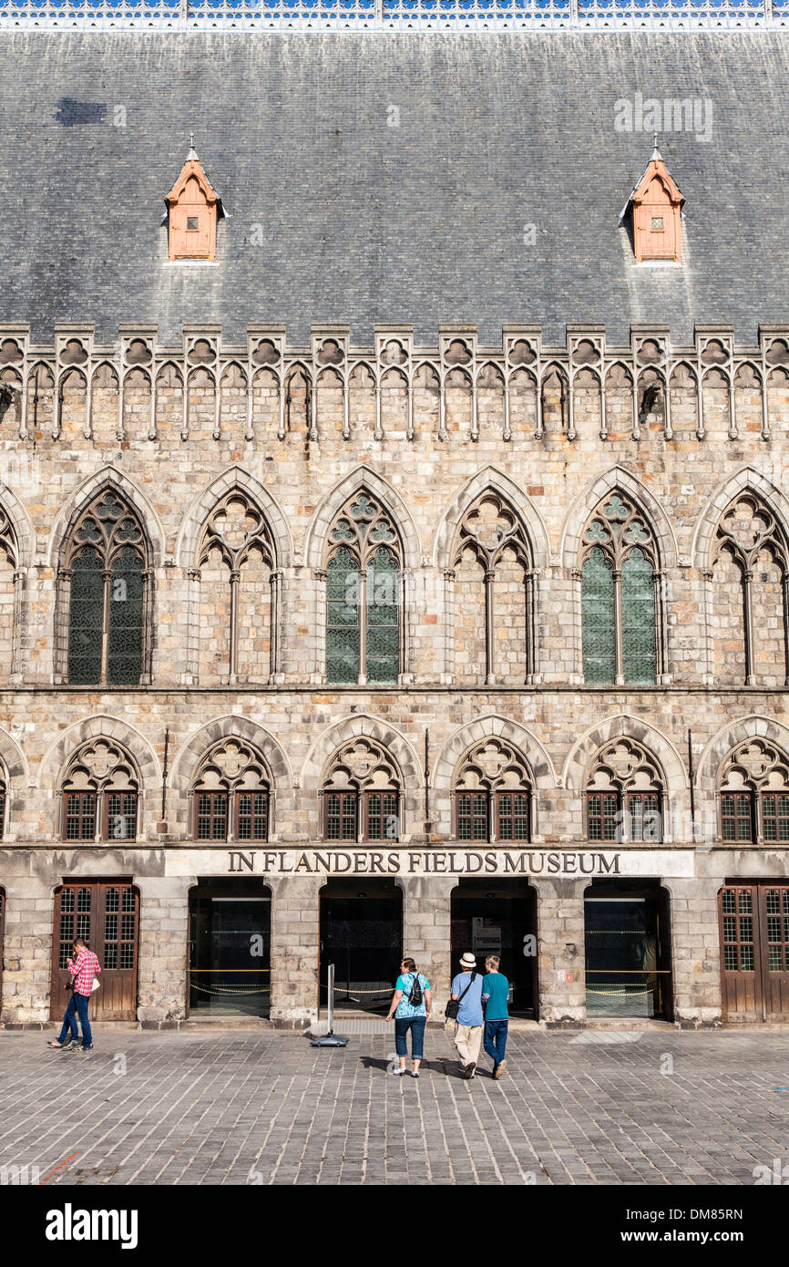 In Flanders Fields Museum in the old town of Ypres in Grote Markt, Ypres, Belgium - Stock Image