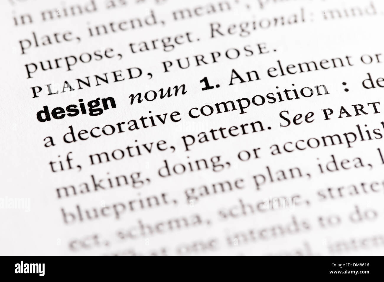 Dictionary definition of design noun stock photo 64104578 alamy dictionary definition of design noun malvernweather Image collections