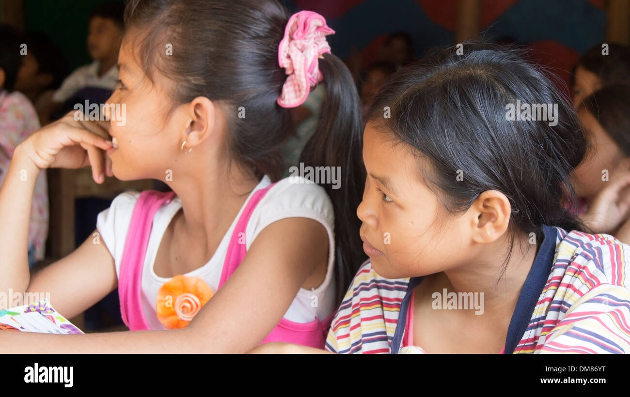 Primary School Children Education Phnom Penh Cambodia South East Asia - Stock Image