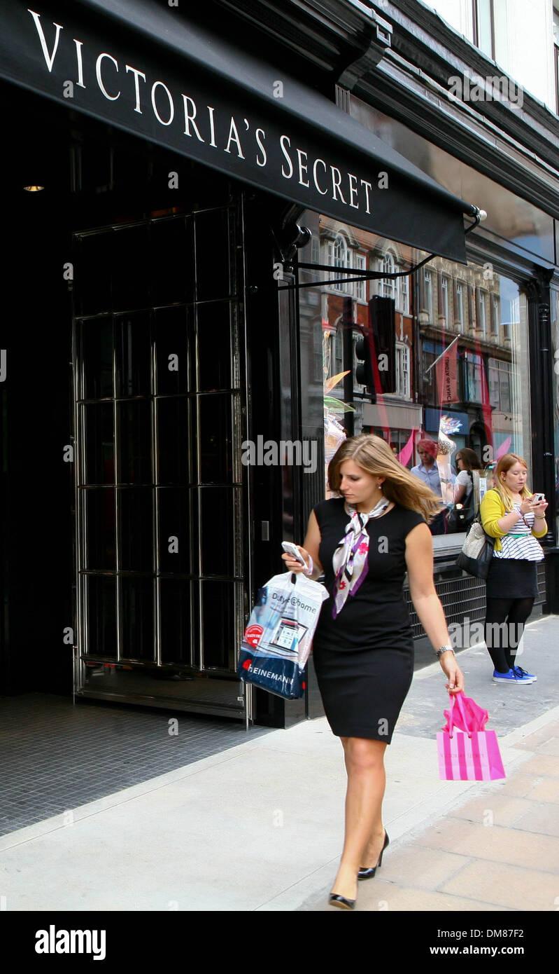 Exterior Views Victoria's Secret London flagship store launch on Bond Street London England - 29.08.12 Stock Photo