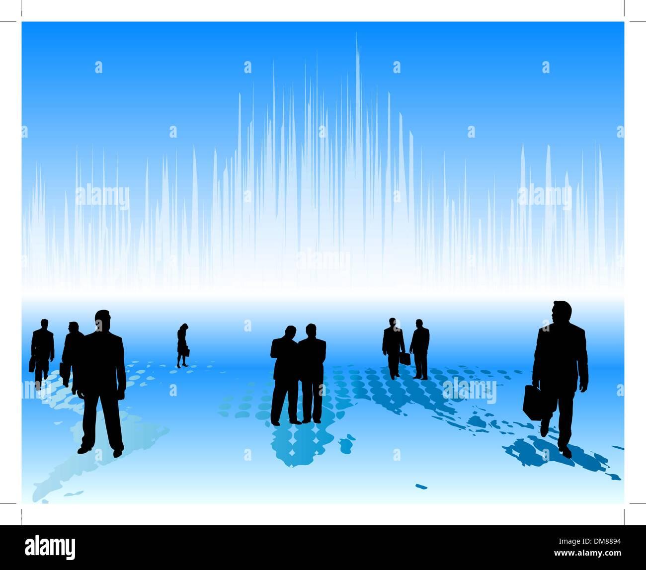worldwide business - Stock Vector