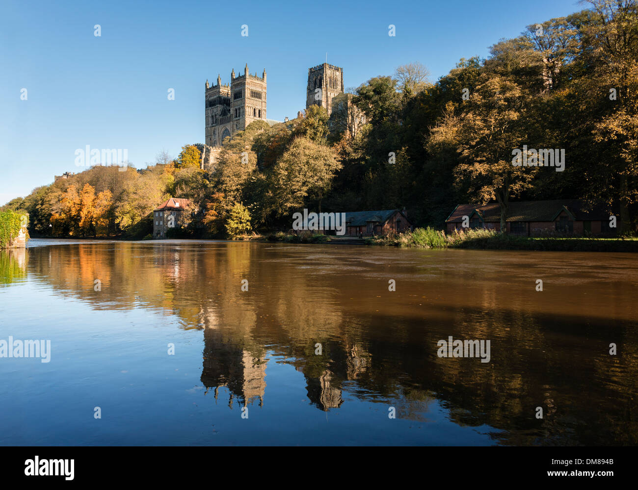 River Wear and Durham Cathedral - Stock Image