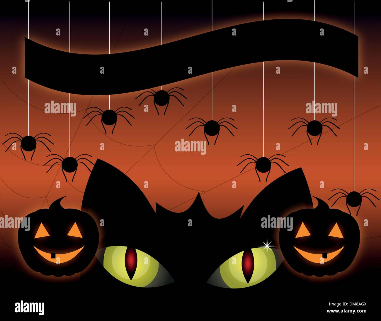 black cat on a halloween stock image
