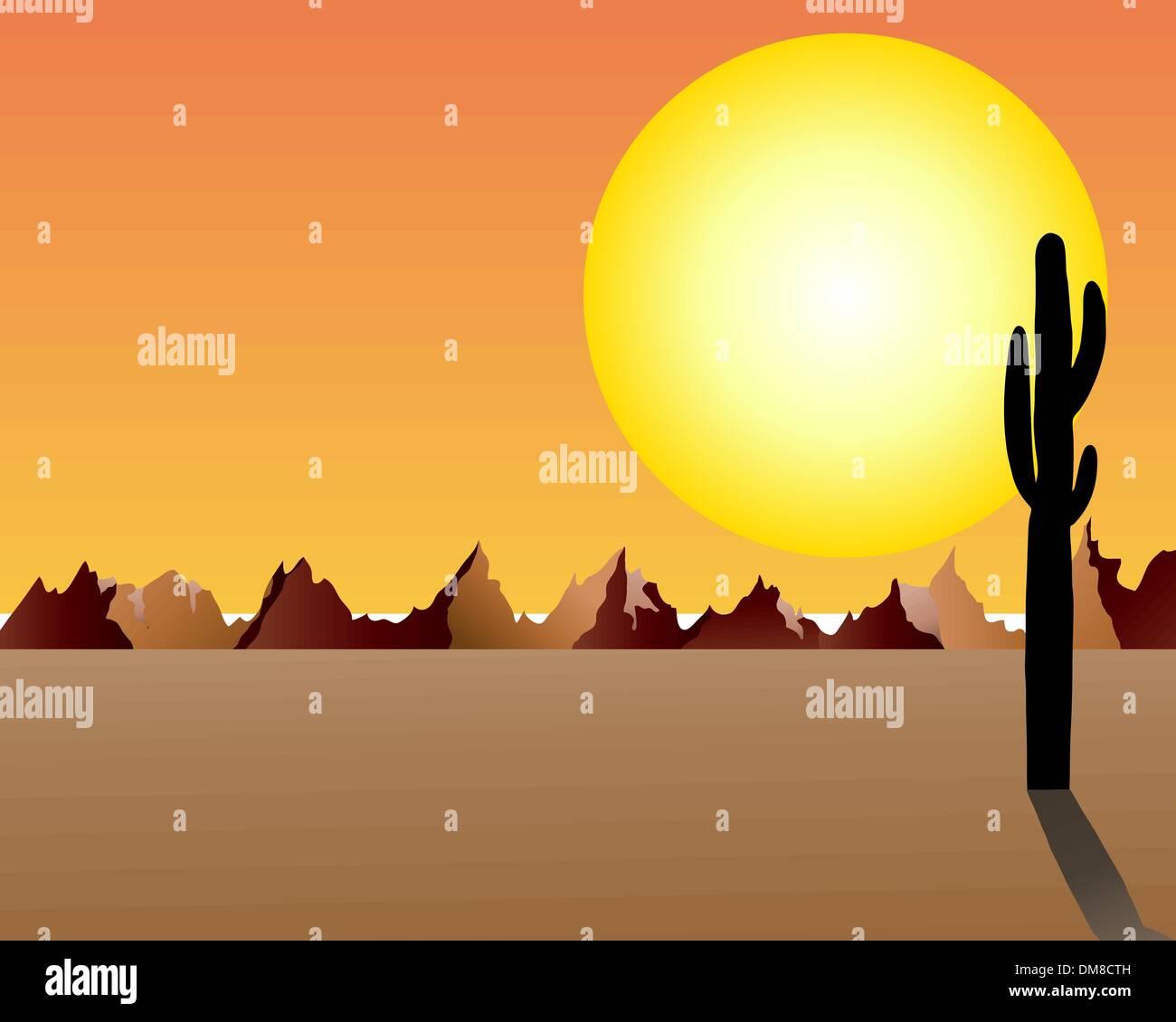 Desert and rocks - Stock Image