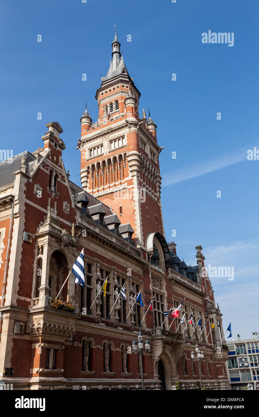 Town Hall - Marie - Dunkirk, Dunkirque, France - Stock Image