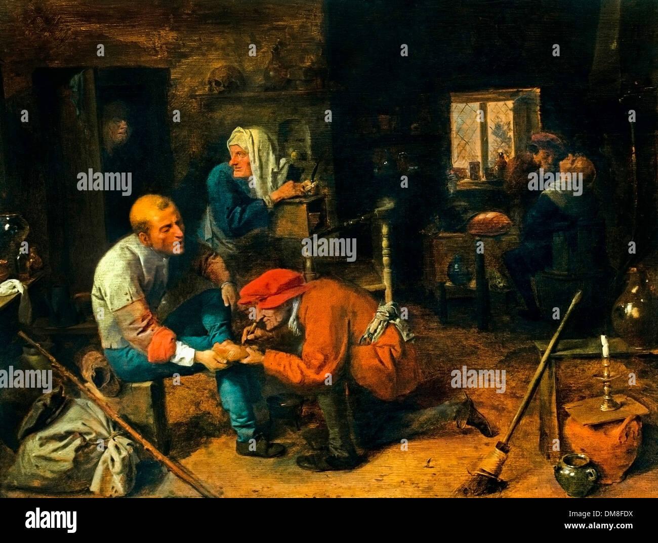The Operation 1632 Adriaen Brouwer (1605/1606–1638)  Belgian Belgium Flemish - Stock Image