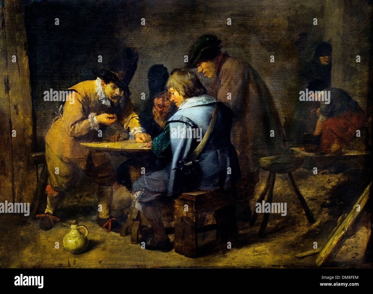 Soldiers Playing Dice in a Tavern by David Teniers the Younger (1610–1690)  Belgian Belgium Flemish - Stock Image
