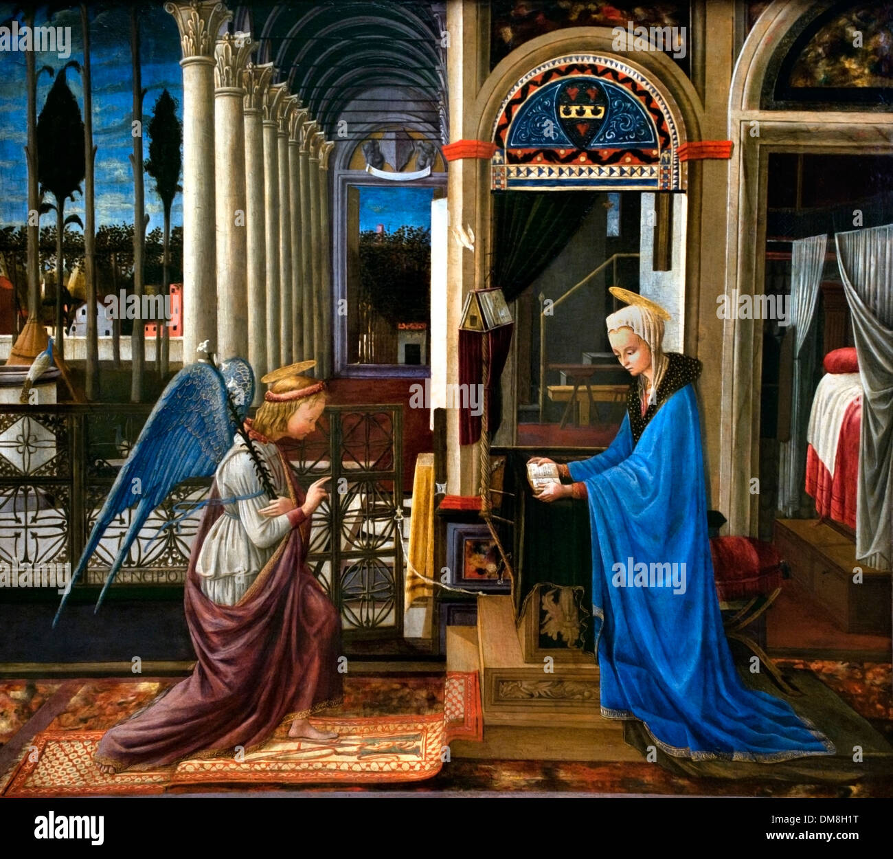 The Annunciation 1445 Fra Carnevale (1425–1484) Italy Italian - Stock Image