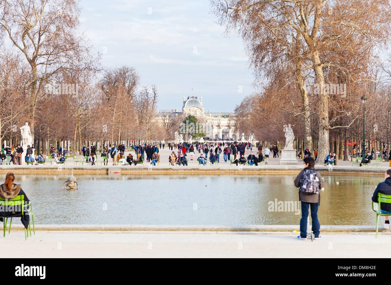 Tuileries Garden, Paris - Stock Image